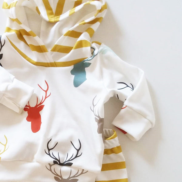 2pcs Toddler Baby Deer Clothing Set