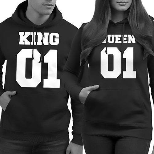King Queen 01 Hoodies