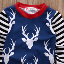 Christmas Newborn Baby Boy Girl Long Sleeve 2 Pcs Outfits Sets