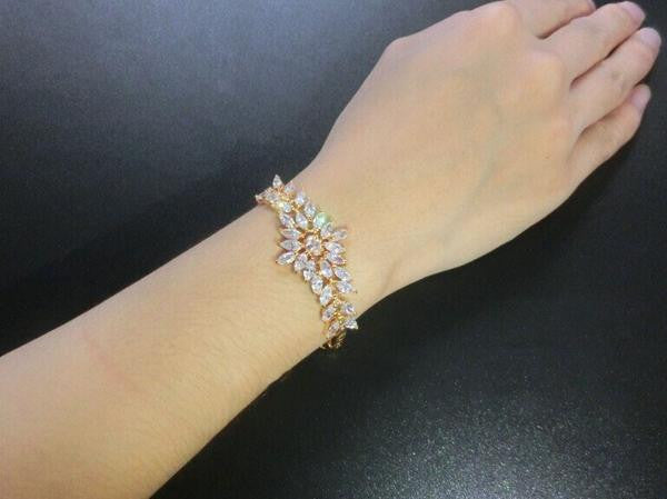 Big Flower Charm Zirconia Diamond Bracelets - 1000Miles
