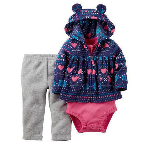 3 Pieces Baby Clothing Set Bebes Winter Snowsuit Abrigos Roupas
