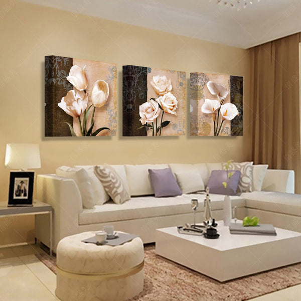 MODERN 3PC PANEL PAINTING 60 x 60 CM - 1000Miles
