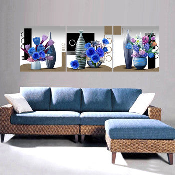 MODERN 3PC PANEL PAINTING 60 x 60 CM