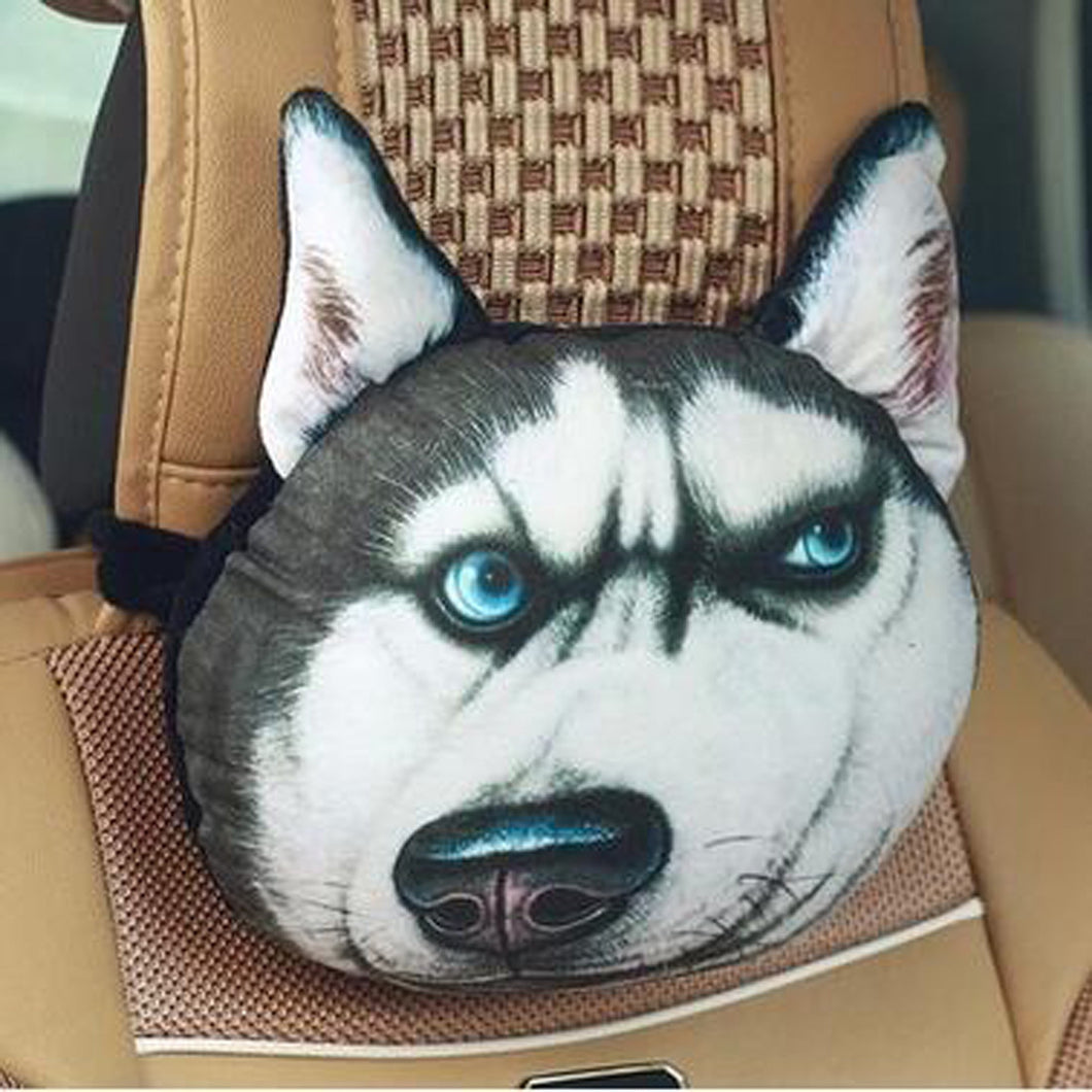 3D Printed Dog Face Car Headrest Pillows - 1000Miles