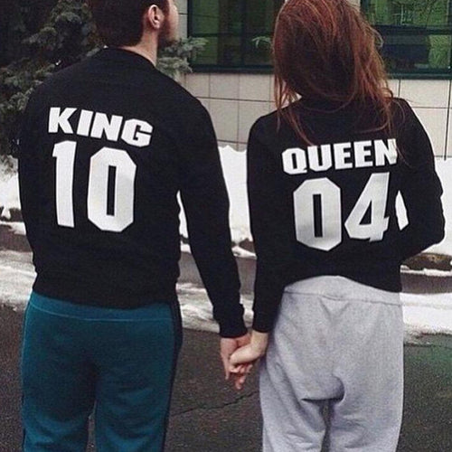 Couple Matching King 10 Queen 04  Hoodies