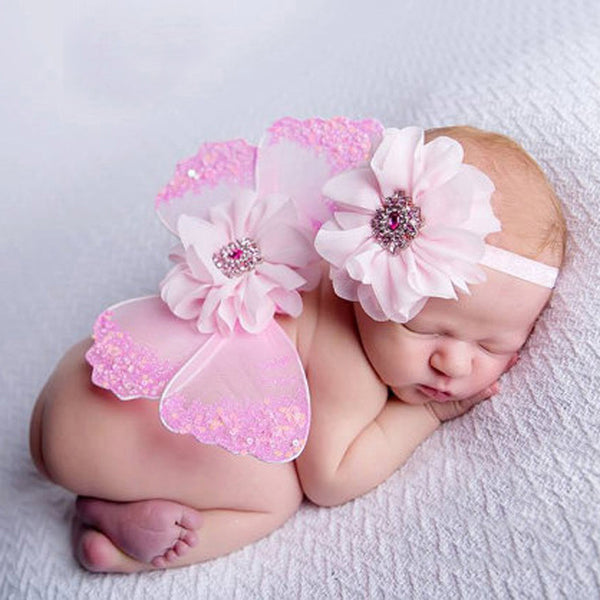 Newborn Butterfly Wings and Headband Set - 1000Miles