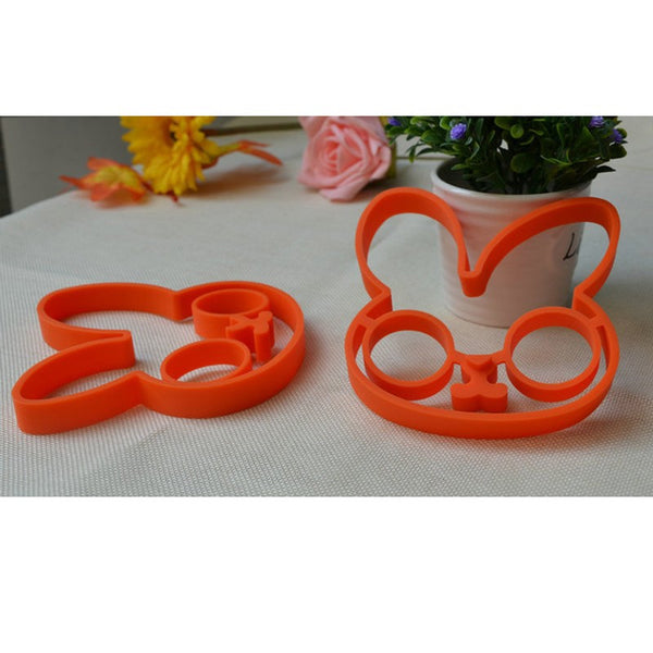 Orange Silicone Bunny Fried Fry Egg Frame