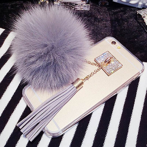 Luxury Fur Ball iPhone Case