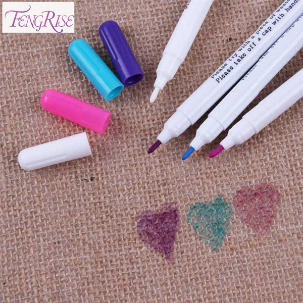 FENGRISE Sewing Accessories 4pc Patchwork Needlework Water Erasable Pens Fabric Markers