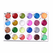 1 SET 24 COLORS NAIL GLITTER POWDER DUST