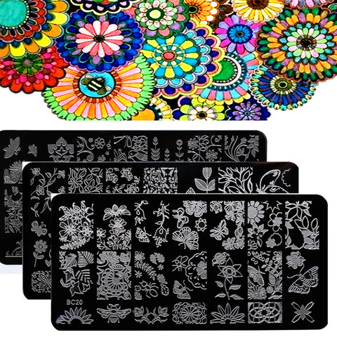 Flower Leaves Forest Image Nail Stamping Plates