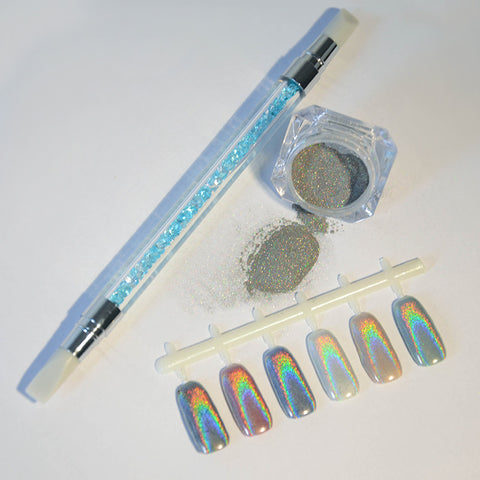 Holographic Unicorn Nail Powder with Silicone Brush