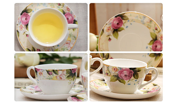 Pastoral style Coffee / Tea Cup Sets (8 colors)