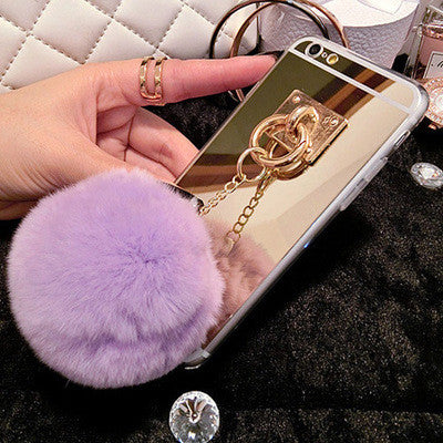 Rabbit Fur Ball Case Cover