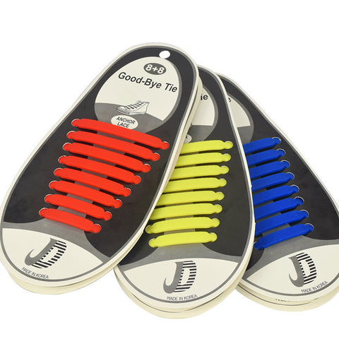 16PCS ATHLETIC SILICONE NO TIE SHOELACES