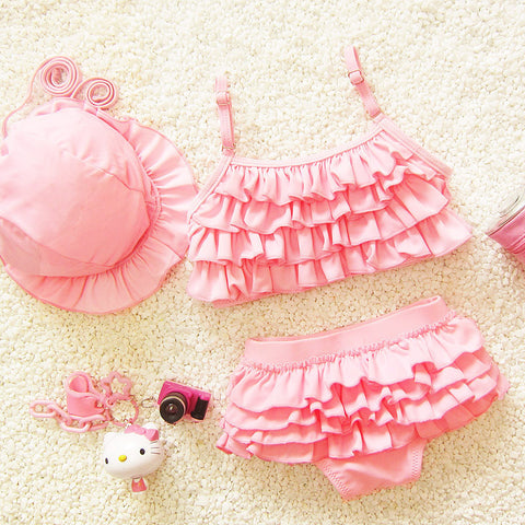 1 Set / 3 Pieces Mermaid Swimwear