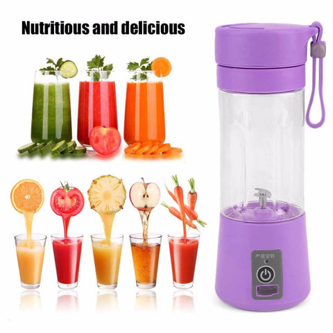 Portable 380ml USB charge Electric Fruit Juicer/Smoothie Bottle