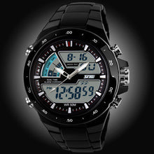 50M Waterproof Mens Sports Watch Digital Analog Rubber Band Shockproof Wristwatches - 1000Miles
