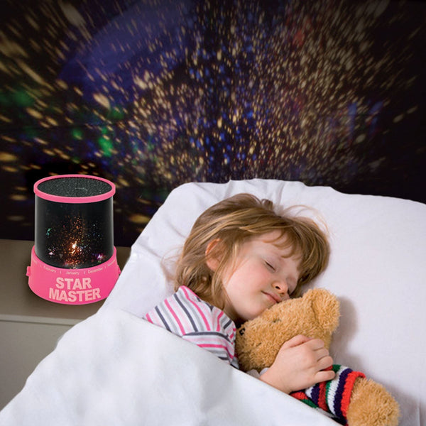PINK - AMAZING SKY STAR COSMOS LASER PROJECTOR LAMP