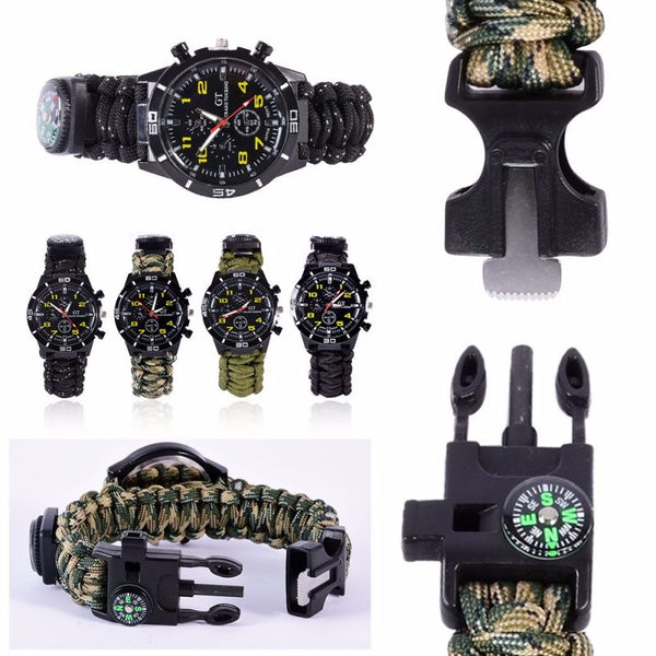 Outdoor Camping 5in1 Travel Kit Watch