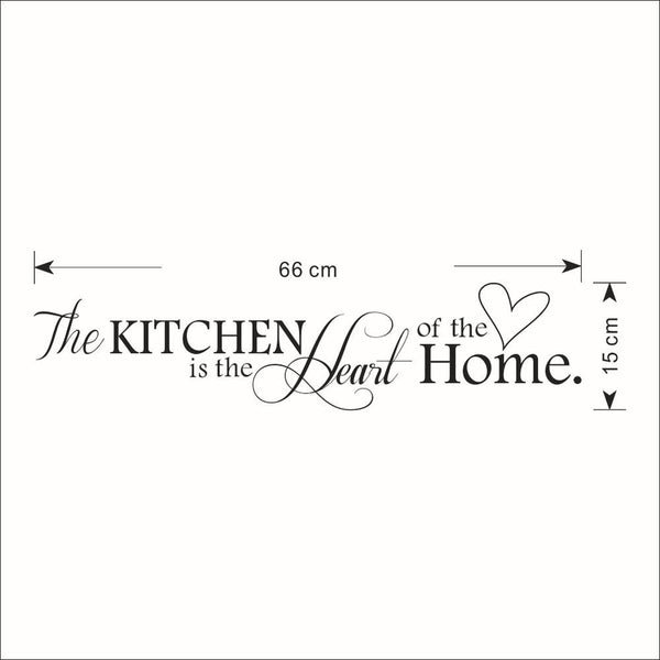 """ The Kitchen is The Heart of the Home"" Letter Pattern Wall Sticker"
