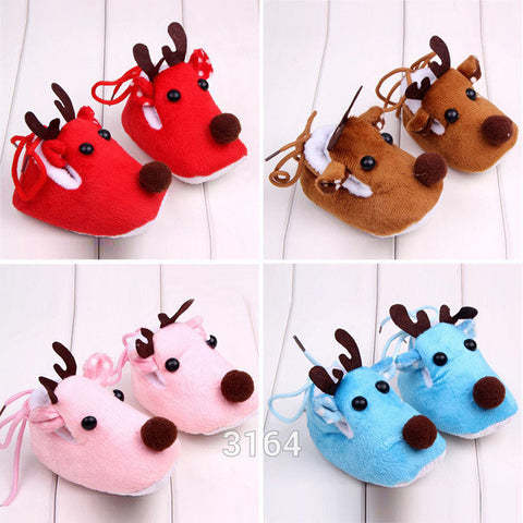 Winter Baby Christmas Deer Toddlers Shoes