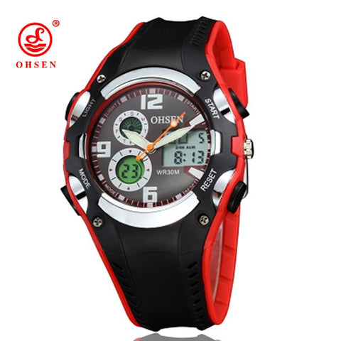 OHSEN Luxury Wristwatch Backlight Digital Display Date Alarm Stopwatch Waterproof Sports Watches Men - 1000Miles