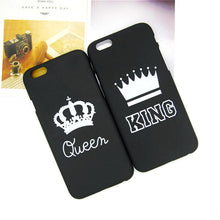 King Queen Hard Plastic I Phone Case