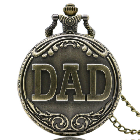 DAD's Pocket Watch with Necklace