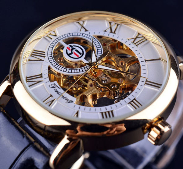 Forsining 3D Hollow Engraving Mechanical Watch - 1000Miles