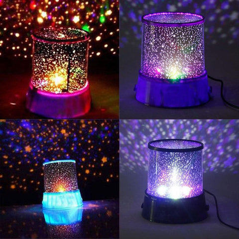PINK - AMAZING SKY STAR COSMOS LASER PROJECTOR LAMP - 1000Miles