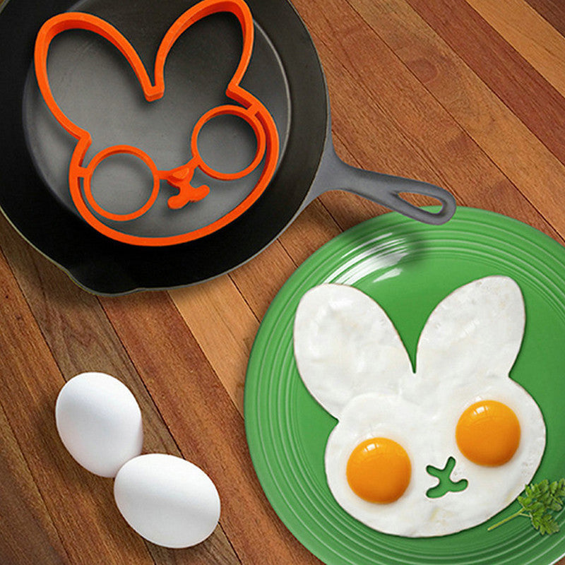Orange Silicone Bunny Fried Fry Egg Frame - 1000Miles