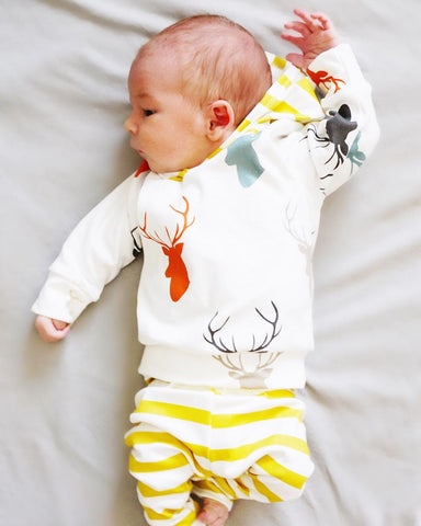 2pcs Toddler Baby Deer Clothing Set - 1000Miles