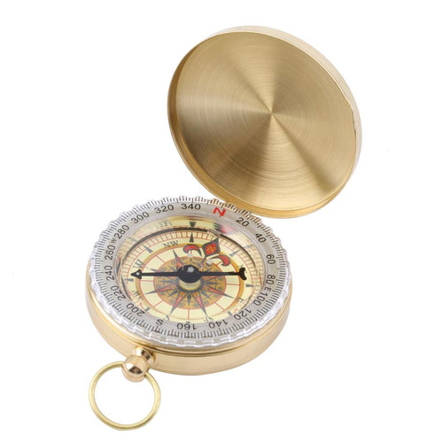 Outdoor Hiking Classic Brass Pocket Watch