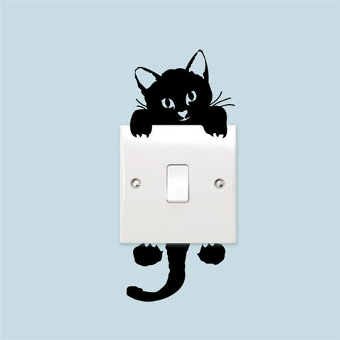 Funny Cat Switch Stickers - 1000Miles