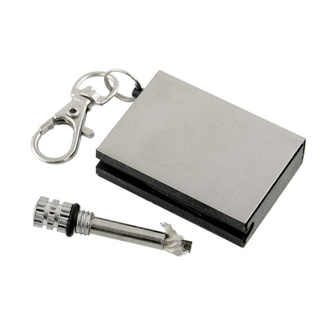 Emergency Fire Starter Flint Match Lighter Metal - 1000Miles