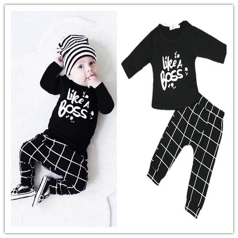 """LIKE A BOSS"" Baby Boy Sport Clothing Set"