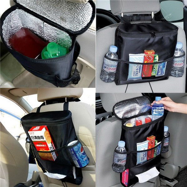 Car Hanging Backseat Organizer with Insulated Cooler - 1000Miles