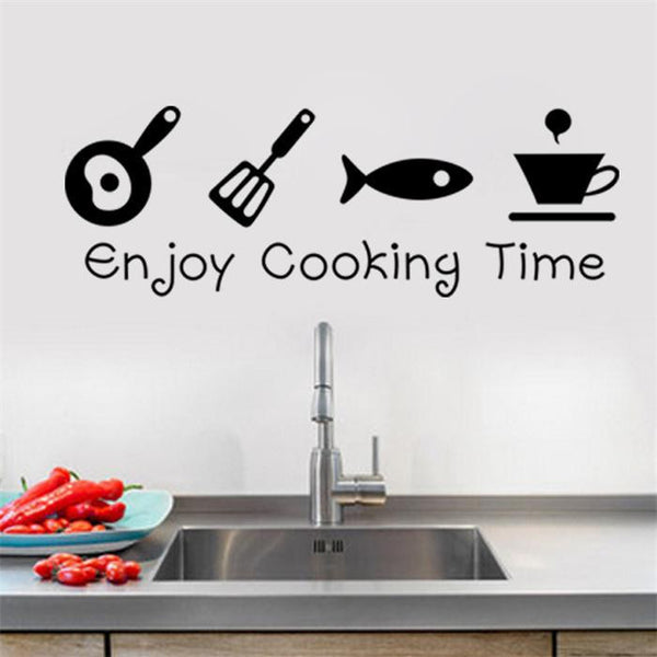 """Enjoy Cooking Time"" Wall Stickers - 1000Miles"