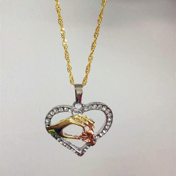Mother Baby Heart Family Love  Necklace