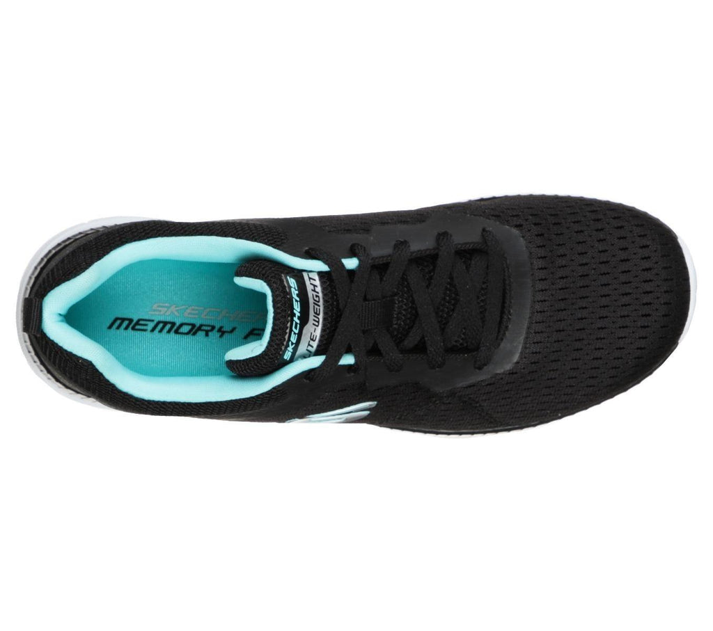 Skechers Womens Bountiful Quick Path - Black Turquoise