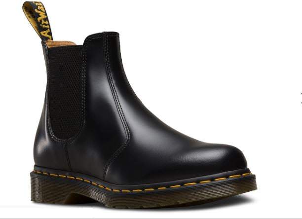 Dr Martens 2976 Chelsea Black Yellow Stitch