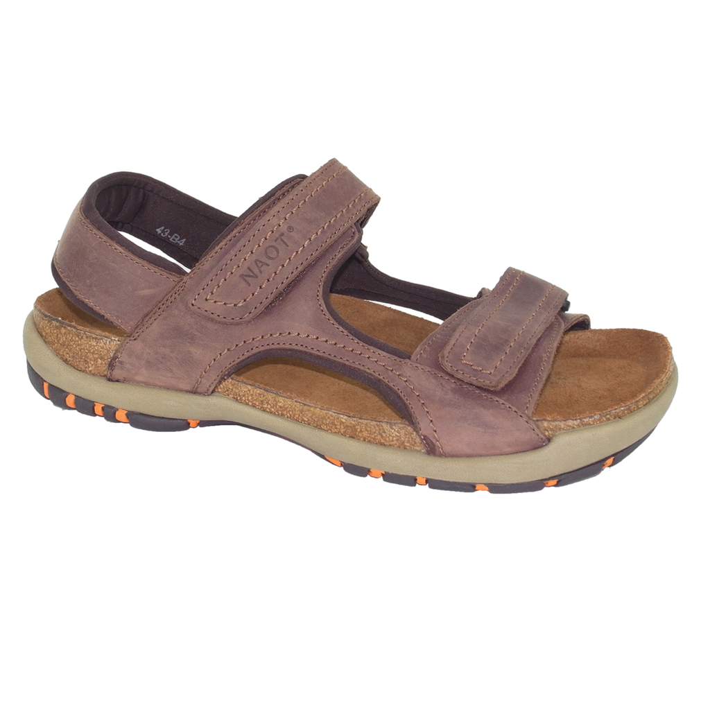 naot electric bison nubuck mens sandal