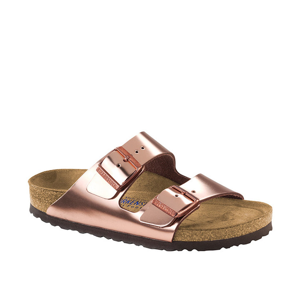 Birkenstock Arizona Leather Metallic Copper SFB Regular