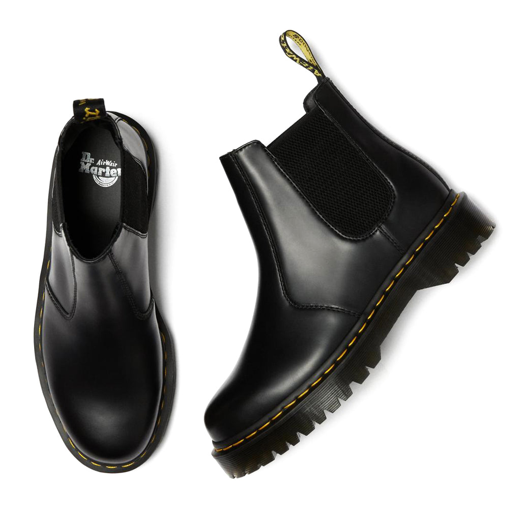 dr martens 2976 bex smooth chelsea black boots different angles