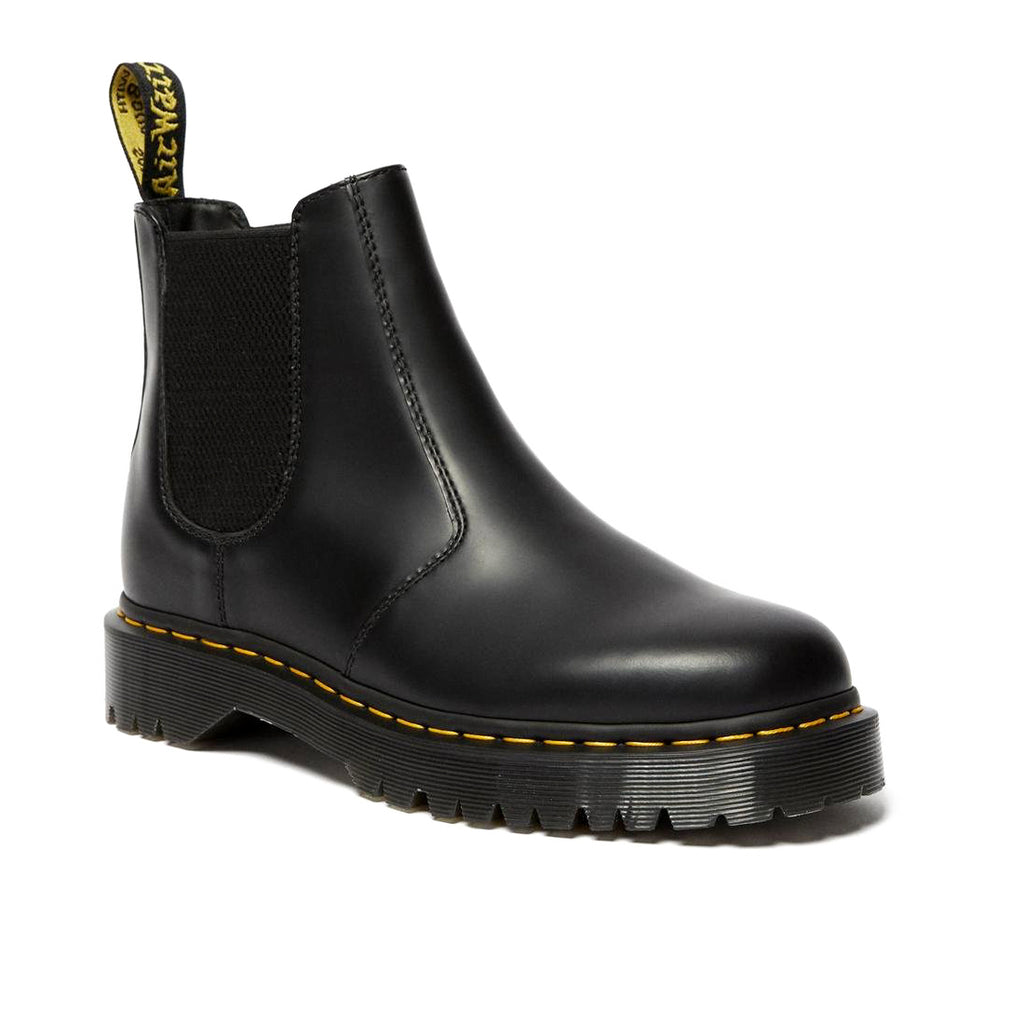 dr martens 2976 bex chelsea black boots smooth leather