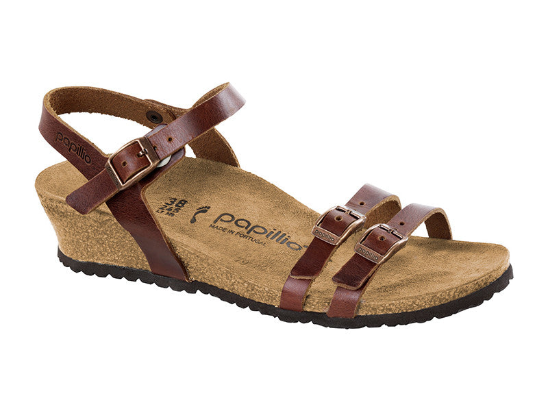 Birkenstock Papillio Lana Leather Cognac (Narrow)