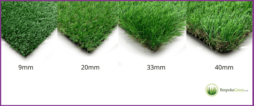 Range of artificial turf available at Carpet Underlay Shop