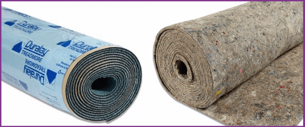 Examples of carpet underlay available to buy