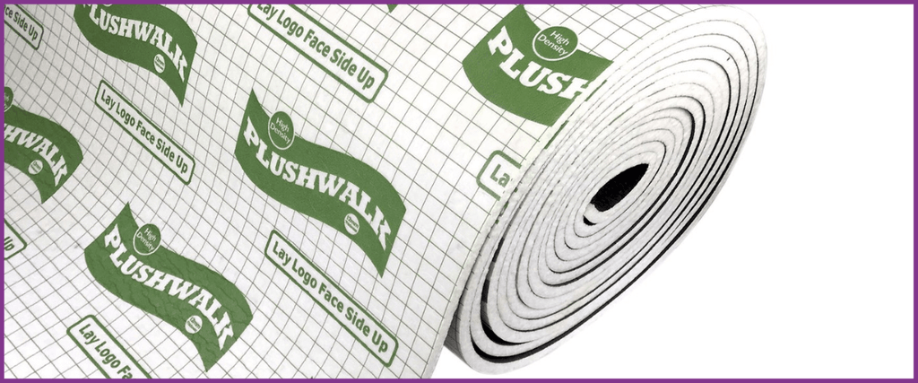 Roll of plushwalk underlay